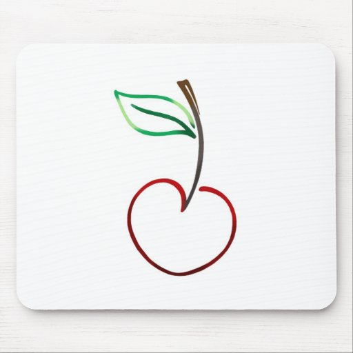Esquema alegre de la cereza en blanco tapete de ratón