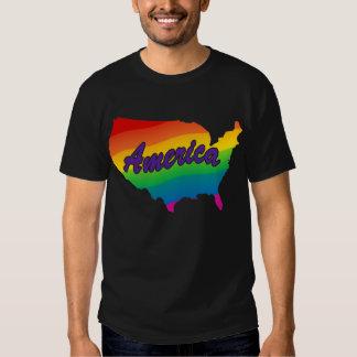 Esquema América del estado del arco iris Playeras