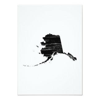 """Esquema apenado del estado de Alaska Invitación 5"""" X 7"""""""