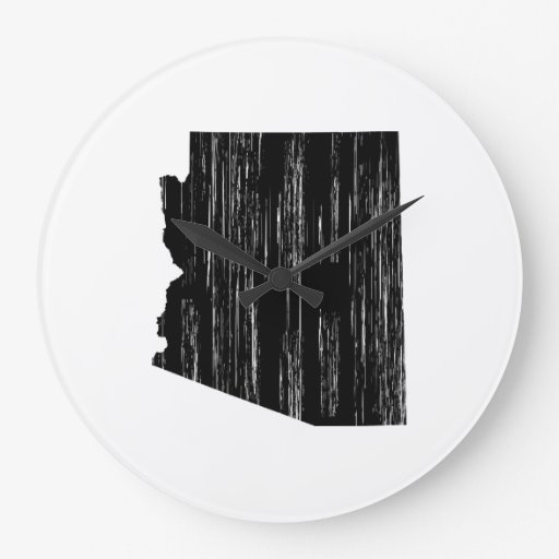Esquema apenado del estado de Arizona Reloj Redondo Grande