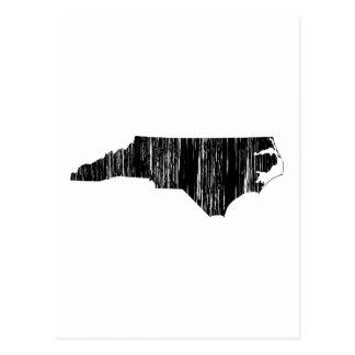 Esquema apenado del estado de Carolina del Norte Tarjetas Postales