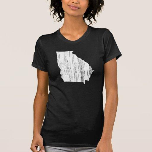 Esquema apenado del estado de Georgia Tshirt
