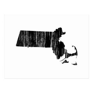 Esquema apenado del estado de Massachusetts Postales