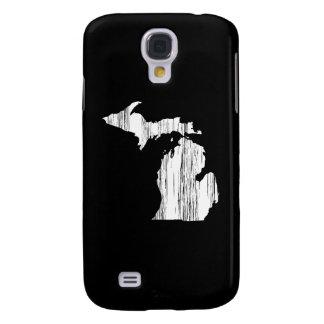 Esquema apenado del estado de Michigan Carcasa Para Galaxy S4