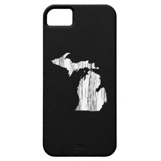 Esquema apenado del estado de Michigan iPhone 5 Fundas