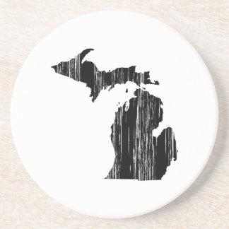 Esquema apenado del estado de Michigan Posavasos Personalizados