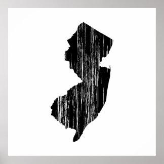 Esquema apenado del estado de New Jersey Posters
