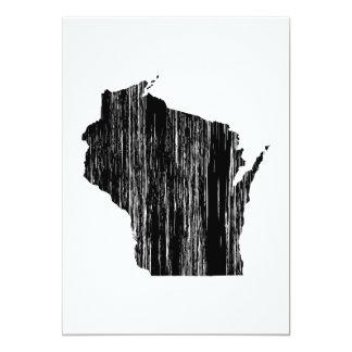 """Esquema apenado del estado de Wisconsin Invitación 5"""" X 7"""""""