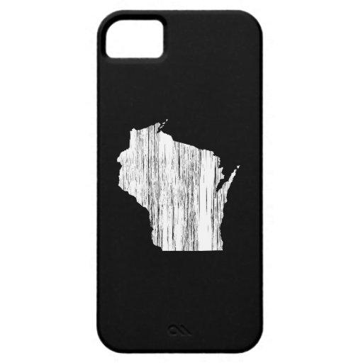 Esquema apenado del estado de Wisconsin iPhone 5 Fundas