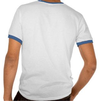 Esquema azul americano del 100 por ciento/texto t-shirt