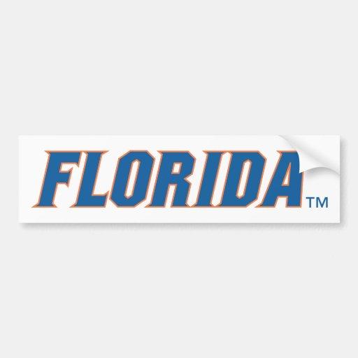 Esquema azul y anaranjado de la Florida - Pegatina De Parachoque