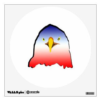 esquema blanco azul del rojo w del águila vinilo