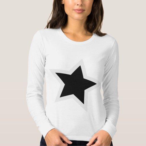 Esquema blanco intrépido de la estrella negra playeras