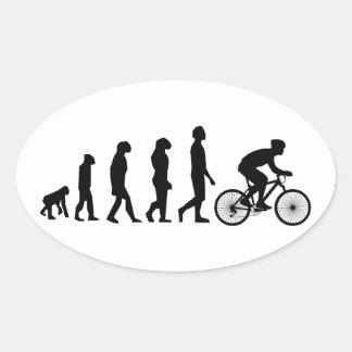 Esquema de ciclo moderno de la evolución humana pegatina ovalada