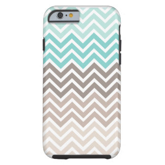 Esquema de color de la playa de Chevron Funda Resistente iPhone 6