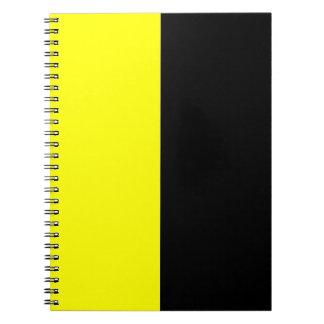 Esquema de color negro y amarillo de la fractura libretas