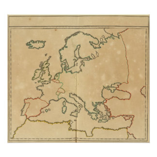 Esquema de Europa Póster