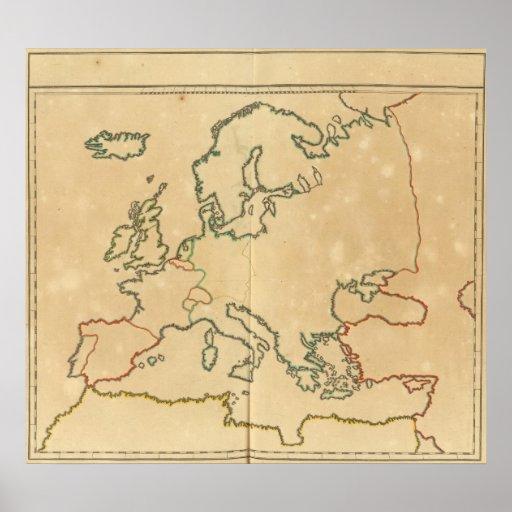 Esquema de Europa Poster