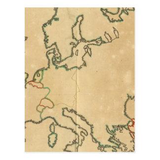 Esquema de Europa Tarjetas Postales