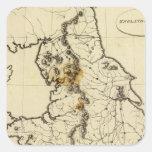 Esquema de Inglaterra, País de Gales Pegatina Cuadrada