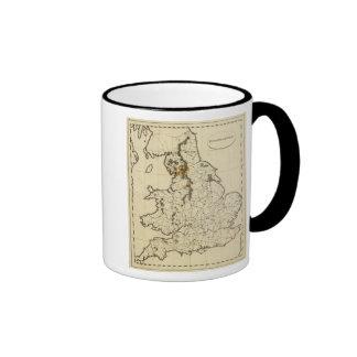 Esquema de Inglaterra País de Gales Tazas De Café