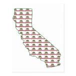 Esquema de la bandera de California Tarjetas Postales