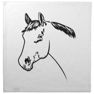 Esquema de la cabeza de caballo servilleta imprimida