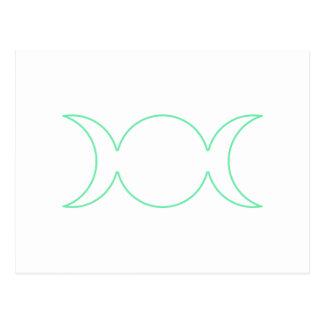 Esquema de la diosa del triple del verde de mar tarjetas postales