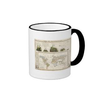 Esquema de la geografía de la planta tazas de café
