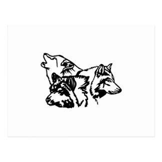 Esquema de la manada de lobos tarjeta postal