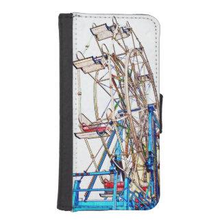 Esquema de la Rueda-Tiza de Ferris Fundas Tipo Cartera Para iPhone 5