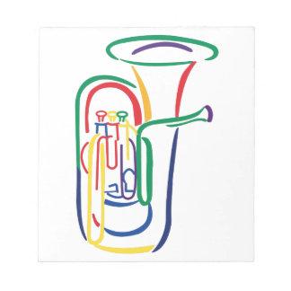 Esquema de la tuba libretas para notas