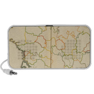 Esquema de las subdivisiones de Francia iPod Altavoces