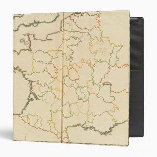 """Esquema de las subdivisiones de Francia Carpeta 1 1/2"""""""