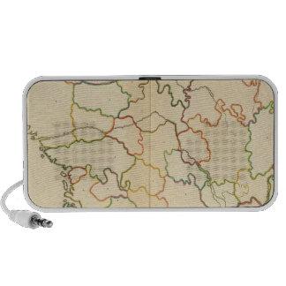 Esquema de los ríos de Francia iPod Altavoz