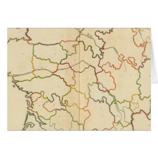 Esquema de los ríos de Francia Tarjeta De Felicitación