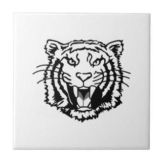 Esquema de los tigres azulejo cuadrado pequeño