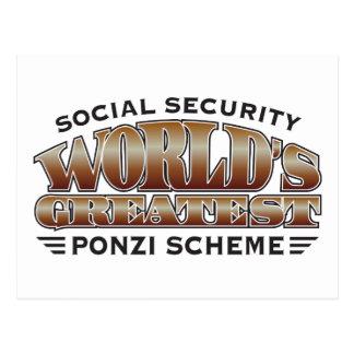 Esquema de Ponzi de la Seguridad Social Tarjetas Postales