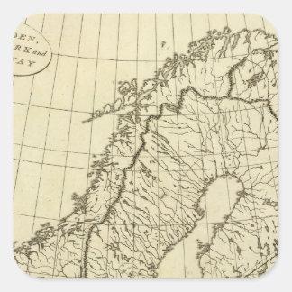 Esquema de Suecia, Dinamarca, Noruega Colcomanias Cuadradas Personalizadas