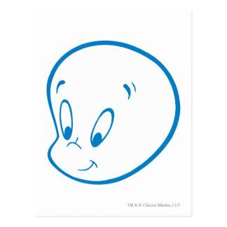 Esquema del azul de Casper Tarjeta Postal