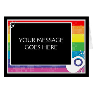 esquema del bloque del arco iris tarjeta pequeña