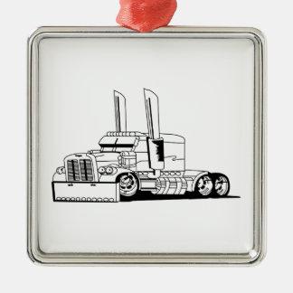 Esquema del camión adorno cuadrado plateado