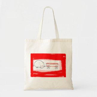 esquema del carro del ratón con el animal lindo bolsas