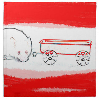 esquema del carro del ratón con el animal lindo servilletas de papel