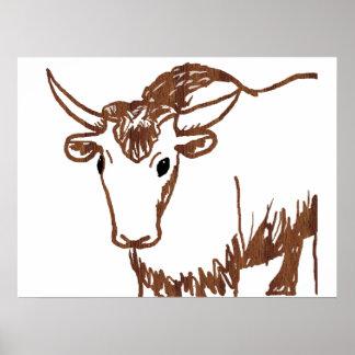 Esquema del dibujo de los yacs, textura de la viru póster