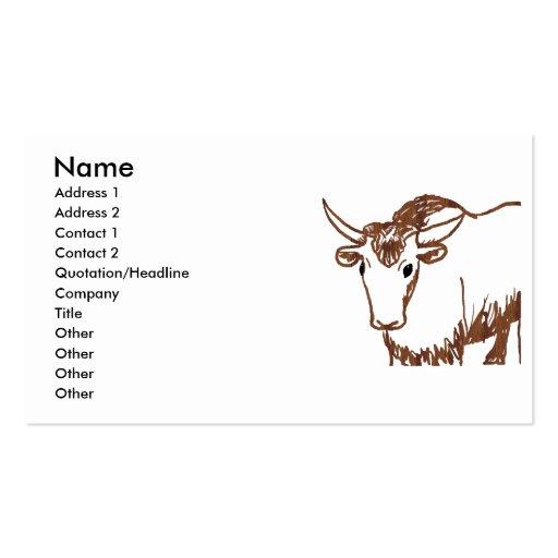 Esquema del dibujo de los yacs, textura de la viru tarjetas de negocios