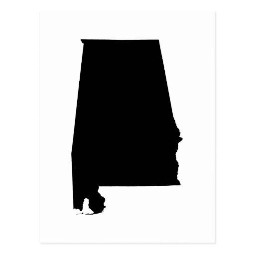 Esquema del estado de Alabama Tarjetas Postales