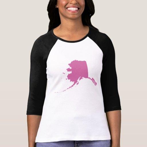 Esquema del estado de Alaska Camisetas