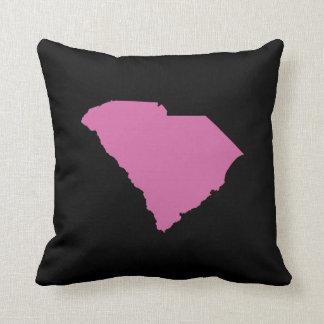 Esquema del estado de Carolina del Sur Cojín Decorativo