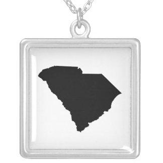 Esquema del estado de Carolina del Sur Collar Plateado